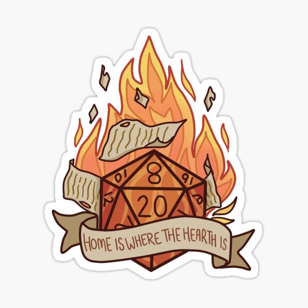 Home is where the hearth is Glossy Sticker