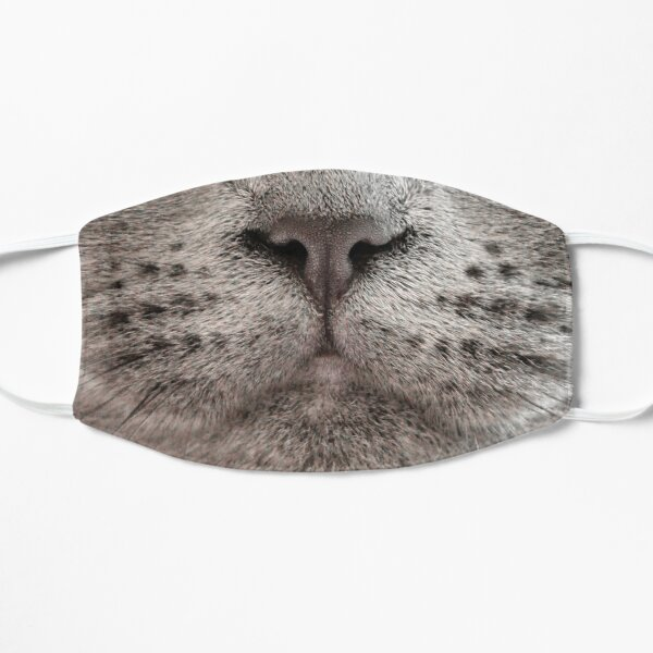 British Blue Cat Face Flat Mask
