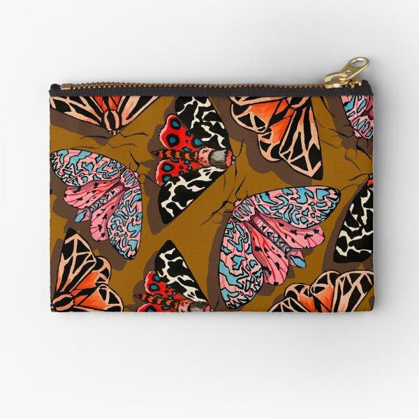 Mustard coloured moths Zipper Pouch