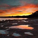 Reflection - Murchison River - Kalbarri by John Pitman