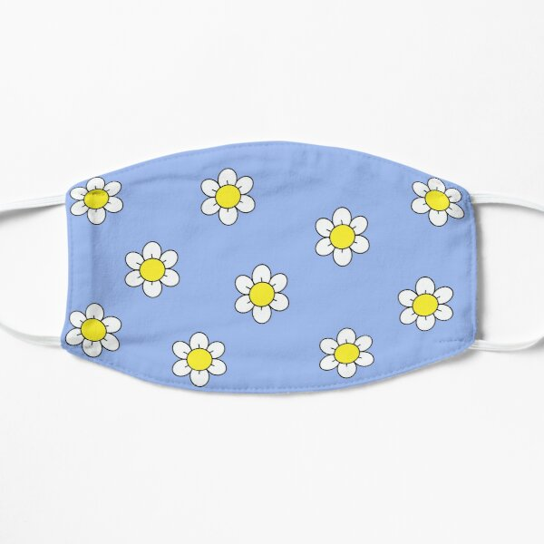 Happy Daisies on Blue  Mask