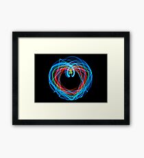 Double Pendulum with LEDs Framed Print