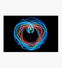 Double Pendulum with LEDs Photographic Print