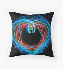 Double Pendulum with LEDs Throw Pillow