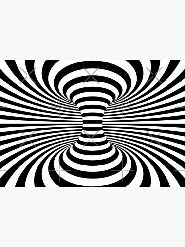 Black & White Space Optical Illusion  by hadicazvysavaca