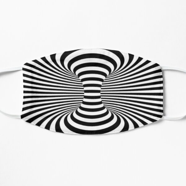 Black & White Space Optical Illusion  Flat Mask