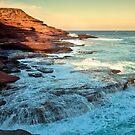 Stone Washed - Red Bluff Beach - Kalbarri by John Pitman