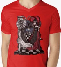 Alice and her Queens: The Checkered Board Men's V-Neck T-Shirt