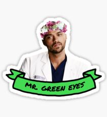 Green Eyes Sticker