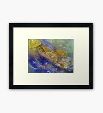 Wild River in Purple and Gold Framed Print