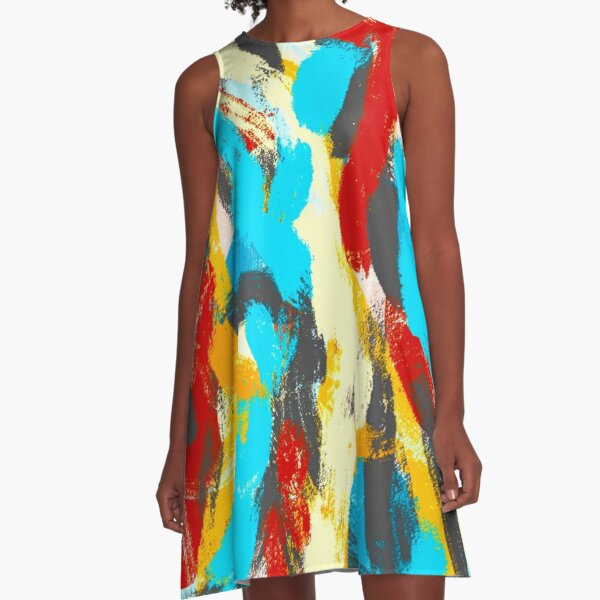 Whiplash Abstract Painting A-Line Dress