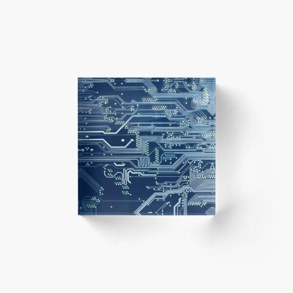 Electronic circuit board Acrylic Block