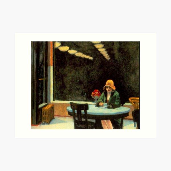 AMERICAN ARTIST. Edward Hopper. Automat. 1927. Art Print