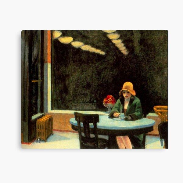 AMERICAN ARTIST. Edward Hopper. Automat. 1927. Canvas Print