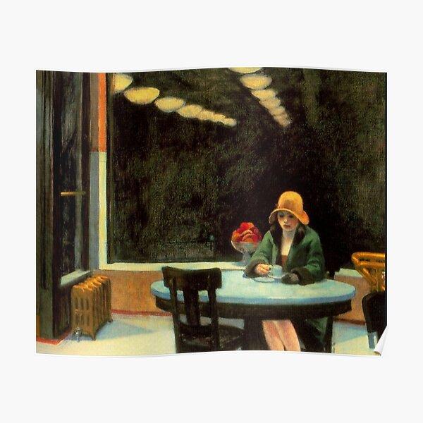ARTISTA AMERICANO. Edward Hopper. Aparato mecánico. 1927. Póster