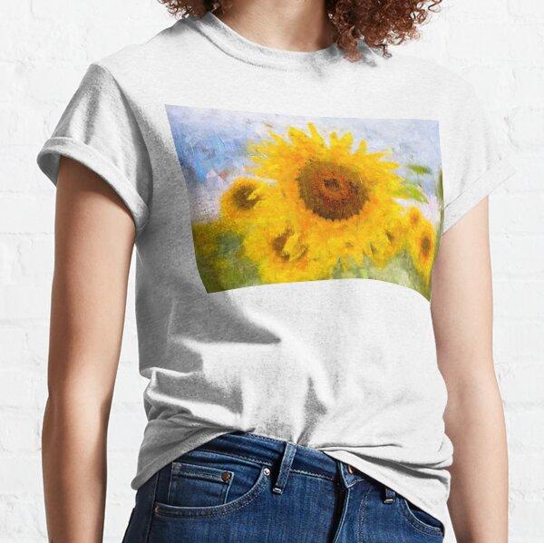 Sunflowers Abstract Art Classic T-Shirt