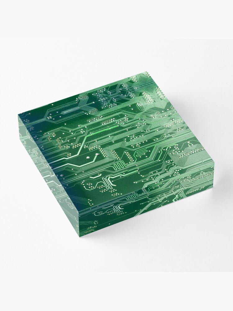 Alternate view of Electronic circuit board Acrylic Block