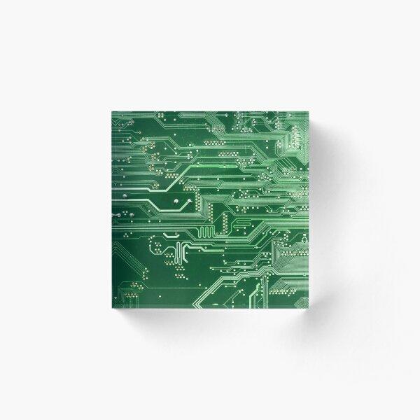 Electronic circuit board Acrylic Block