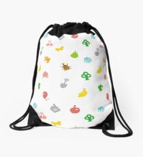 Animal Crossing Amiibo Card - Pattern Drawstring Bag