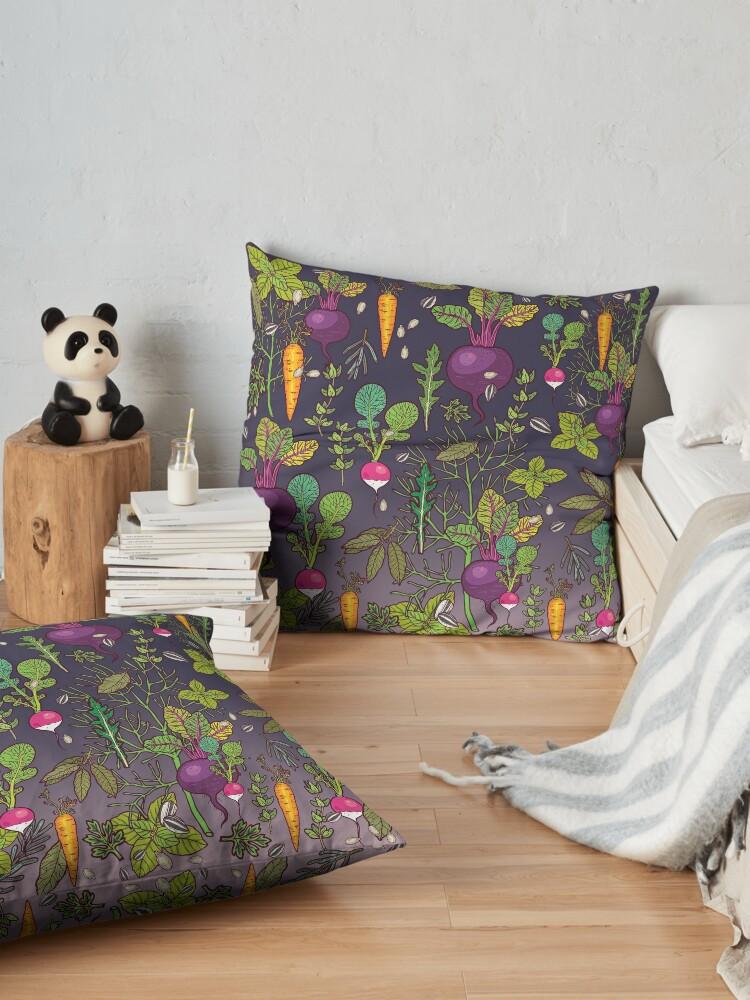 Alternate view of Gardener's dream Floor Pillow