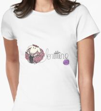 knitting ewe Womens Fitted T-Shirt