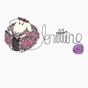 knitting ewe by blackbirdsong