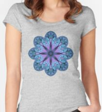 Fractal Mandala Women's Fitted Scoop T-Shirt