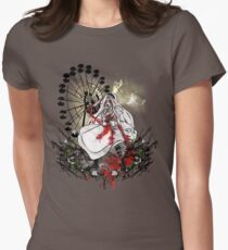 Hysteria in Rust Womens Fitted T-Shirt