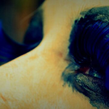 blue lashes by iamme2234