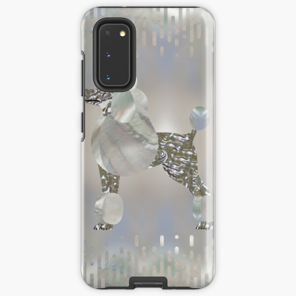 Luxury Pearl and Abalone Poodle  Samsung Galaxy Tough Case