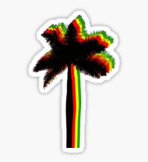 rasta palms Sticker