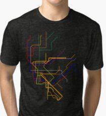 Camiseta de tejido mixto NYC Lines