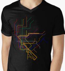 NYC Subway Lines Men's V-Neck T-Shirt
