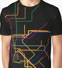 NYC Subway Lines Graphic T-Shirt