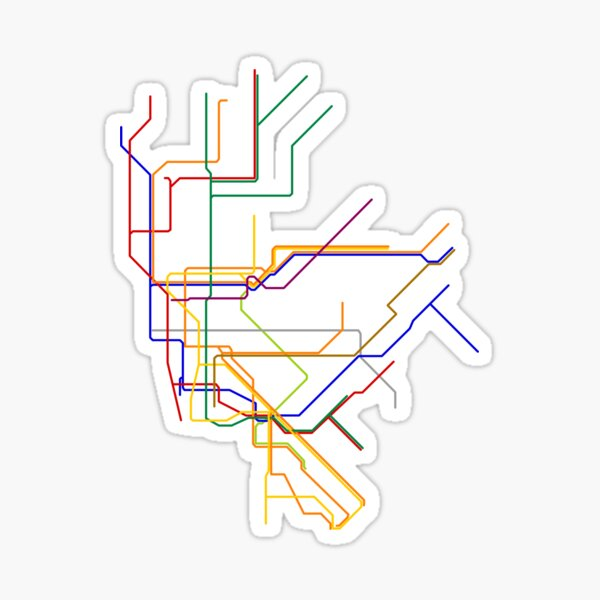 NYC Lines Sticker