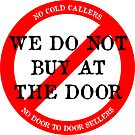 We do not buy at the door sticker by puppaluppa