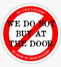 We do not buy at the door sticker Sticker