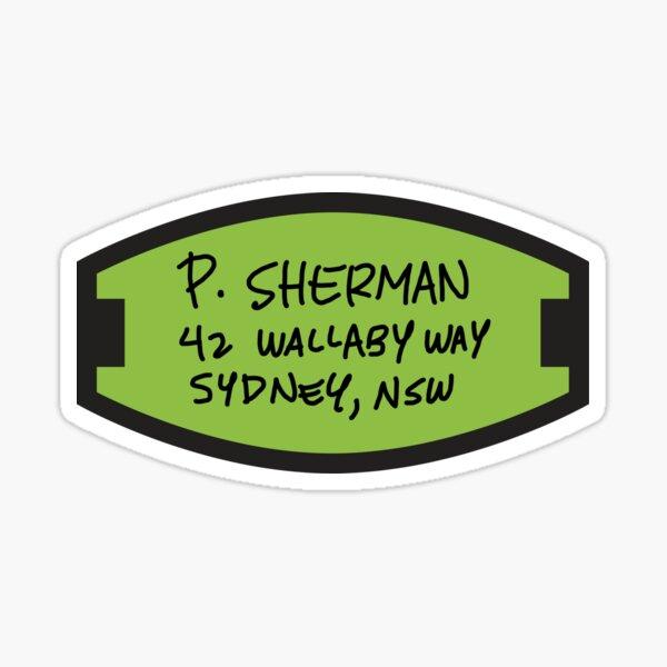 P. Sherman Sticker