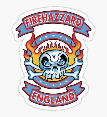 Firehazzard-England (colour Sticker