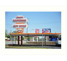 Gene's Rootbeer and Hot Dogs Art Print