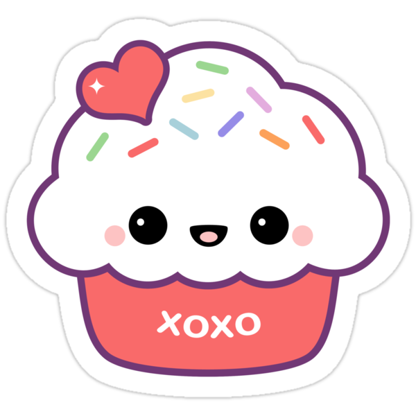 """Cute Love Cupcake"" Stickers by sugarhai 