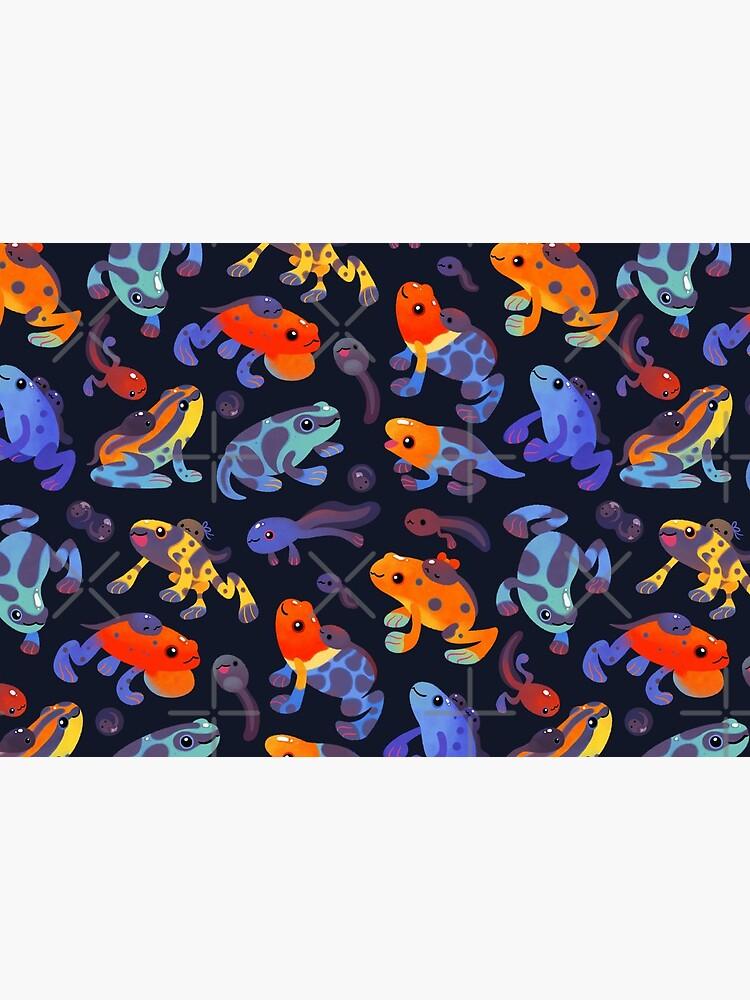Poison dart frogs - dark by pikaole