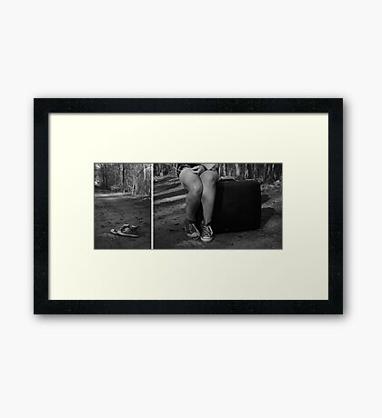 "Self Portrait- Diptych ""I'm Leaving Home!"" Framed Print"