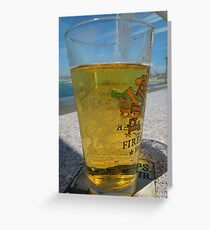 A cold glass of beer..... Greeting Card