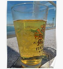 A cold glass of beer..... Poster