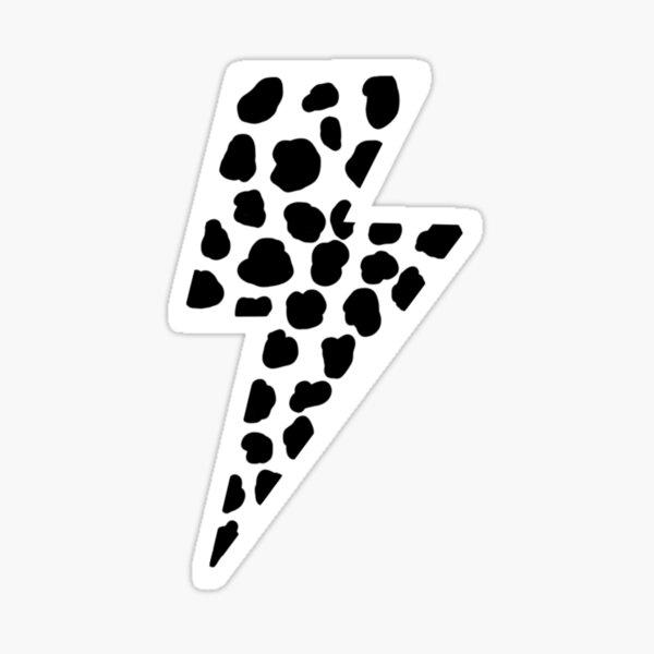 Cow Print Lightning Bolt Sticker