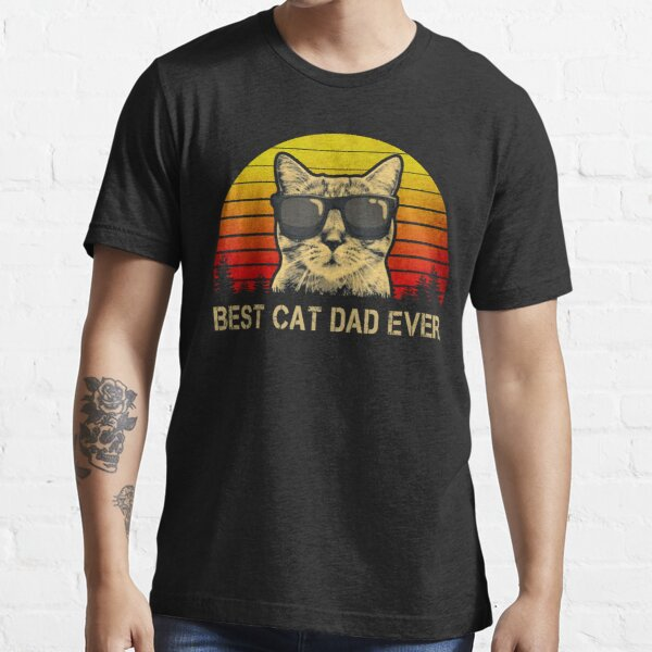 Vintage Best Cat Dad Ever T-Shirt Cat Daddy Father Essential T-Shirt