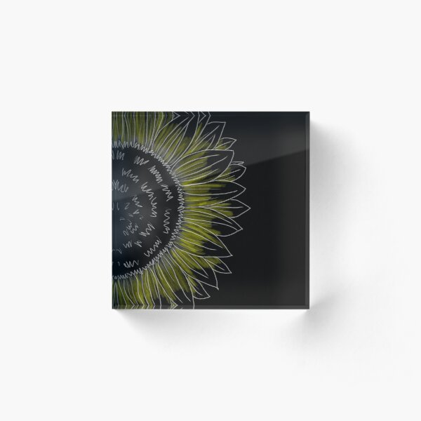 Sunflower in the Night  Acrylic Block