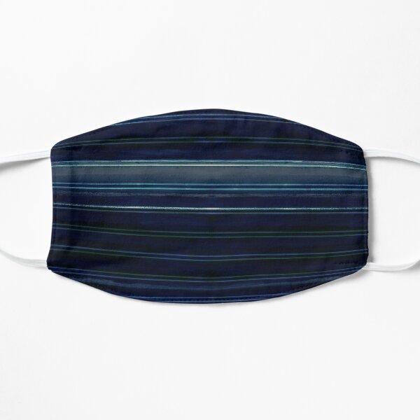 Deep Sea nautical stripes Flat Mask