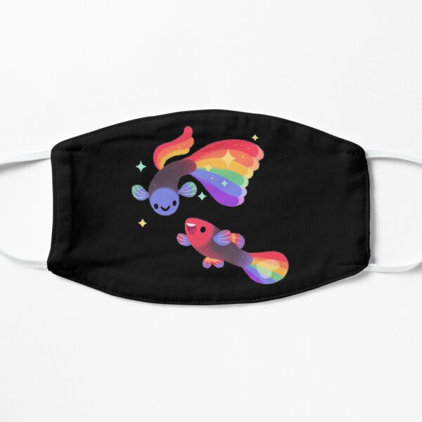Rainbow guppy 5 Mask